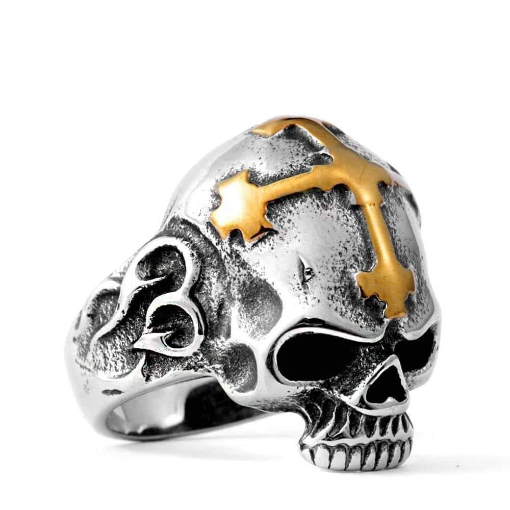 Scary Stainless steel Rock Style Skull Ring Skeleton Style Jewelry - HARD'N'HEAVY