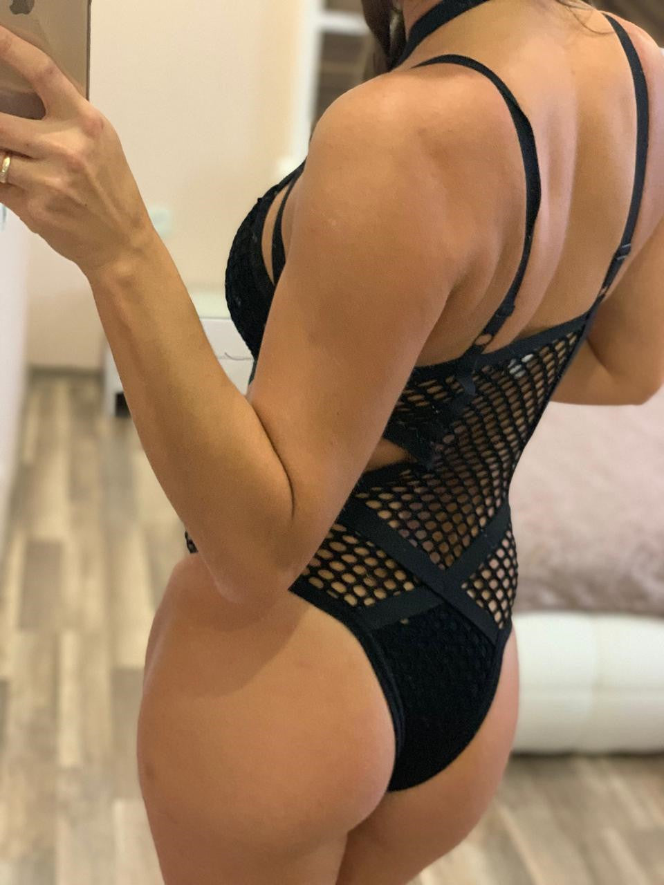 Sexy Black Net Mesh Women's Swimwear / One-Piece Bathing Swimsuit for Beach in Alternative Fashion - HARD'N'HEAVY