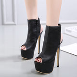 Sexy High Heels Pumps Shoes in Gothic Style / Women's Alternative Fashion Outfit - HARD'N'HEAVY