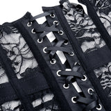 Sexy Lace-Up Black Gothic Corset / Steampunk Bone Corsets and Bustiers in Goth Fashion - HARD'N'HEAVY