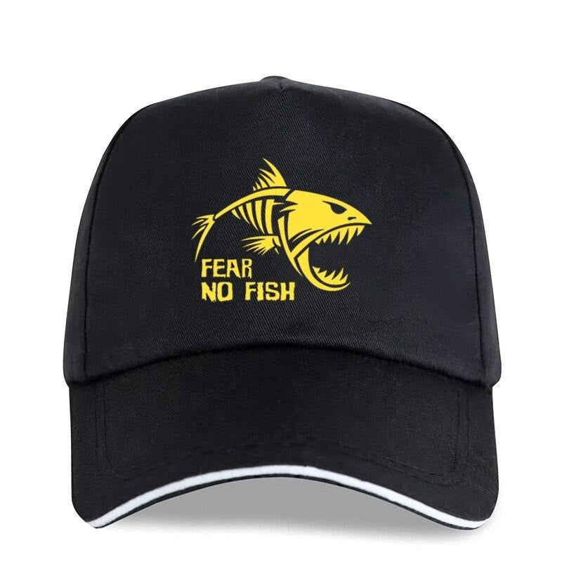 Skeleton Fish-Bones Cap / Fear NO Fish Fishing Rock style Caps / Cotton Adjustable Sun Hat - HARD'N'HEAVY