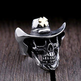 Skull Cowboy Ring / Vintage Stainless steel Jewelry in Rock Style - HARD'N'HEAVY