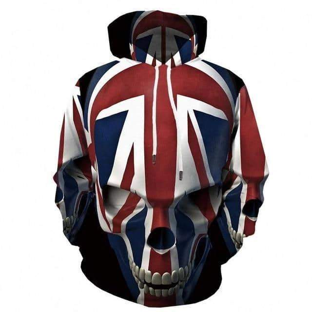 Skull Hoodie Men Streetwear 3D Printed in Alternative Fashion Sweatshirt Animal Clothing Casual - HARD'N'HEAVY