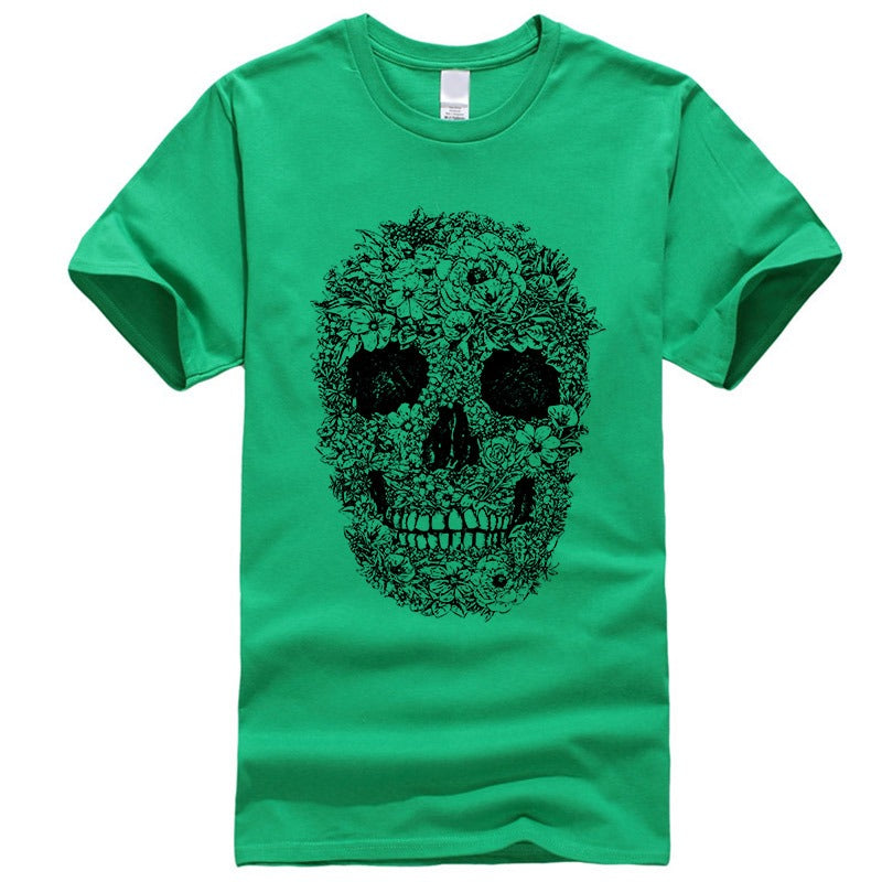 Skull Printed Women T-shirt / Rock Style loose short sleeve O-neck Tees Model - HARD'N'HEAVY