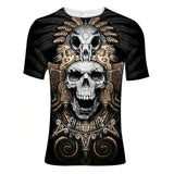 Skull Reaper Printed Tees in Rock Style / 3D Print T-shirt for Men and Women / Short Sleeve Tops #1 - HARD'N'HEAVY