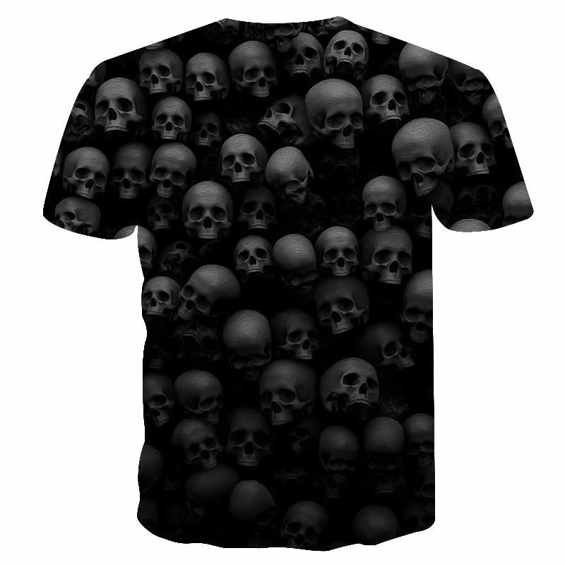 Skull Reaper Printed Tees in Rock Style / 3D Print T-shirt for Men and Women / Short Sleeve Tops #14 - HARD'N'HEAVY