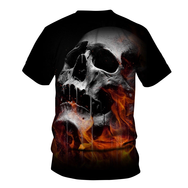 Skull Reaper Printed Tees in Rock Style / 3D Print T-shirt for Men and Women / Short Sleeve Tops #3 - HARD'N'HEAVY