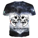Skull Reaper Printed Tees in Rock Style / 3D Print T-shirt for Men and Women / Short Sleeve Tops #7 - HARD'N'HEAVY