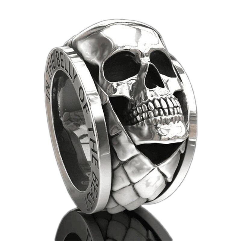 Skull Ring Punk Gothic Engagement Jewelry / Rings Size 6-13 / Gothic Jewelry - HARD'N'HEAVY