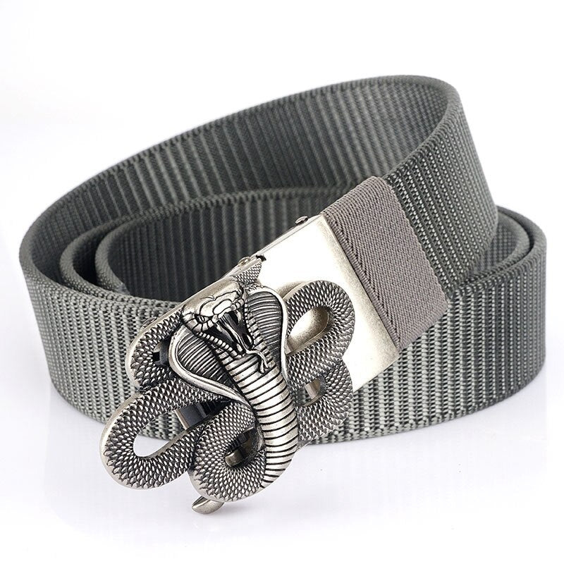 Snake Designer Nylon Belts / Metal Automatic Buckle Multi-function Belt / Unisex Military Belts - HARD'N'HEAVY