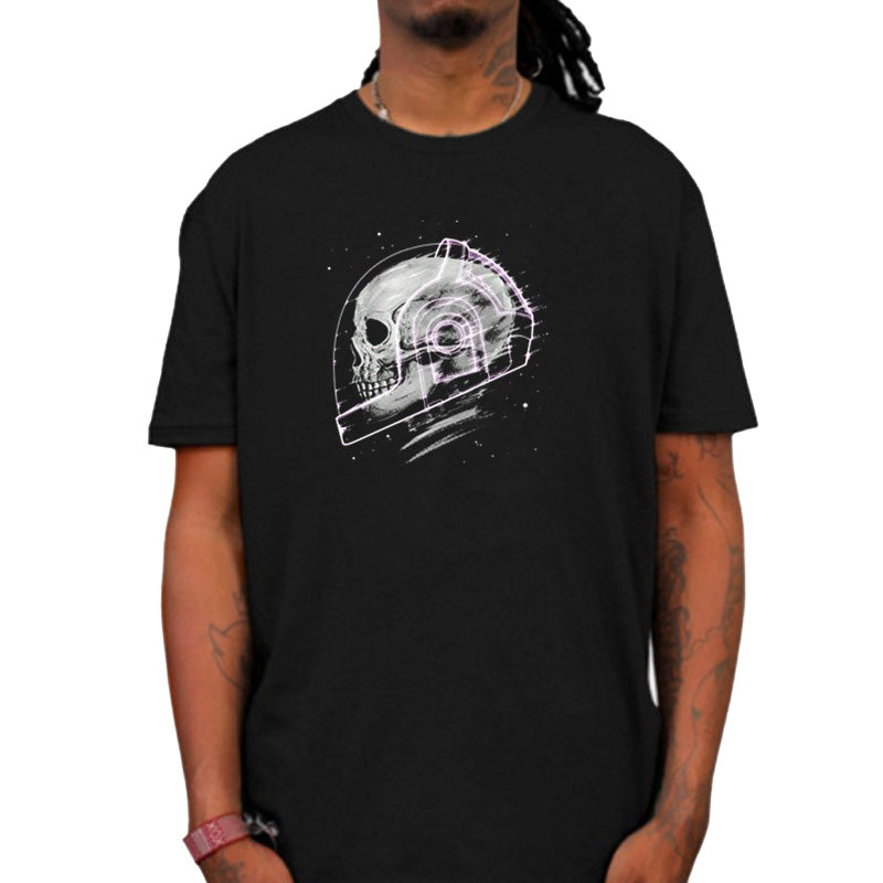 Space man skull print Men and Women graphic tees / Short sleeve Loose rock t shirts / Grunge clothing - HARD'N'HEAVY
