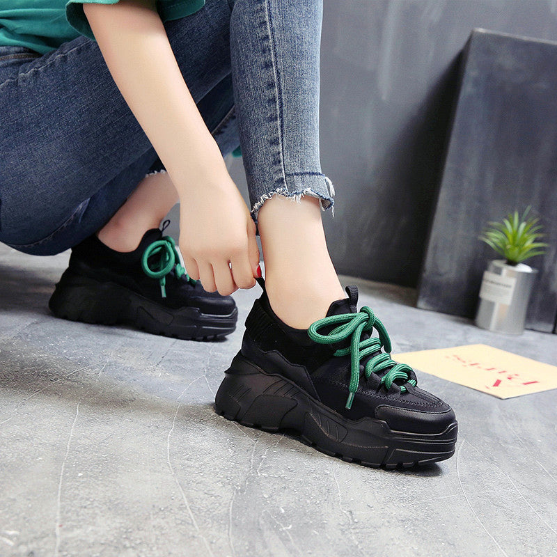 Sports Women's Running Shoes / Female Height Platform Sneakers - HARD'N'HEAVY