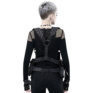 Steampunk Shoulder Waist Bags / Moto & Biker PU Leather Backpacks For Women