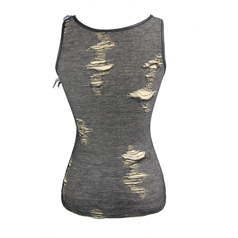 Steampunk Summer Tank Top / Women's Sleeveless Deep-V Tops / Gothic Fashion Thin Casual Clothing - HARD'N'HEAVY