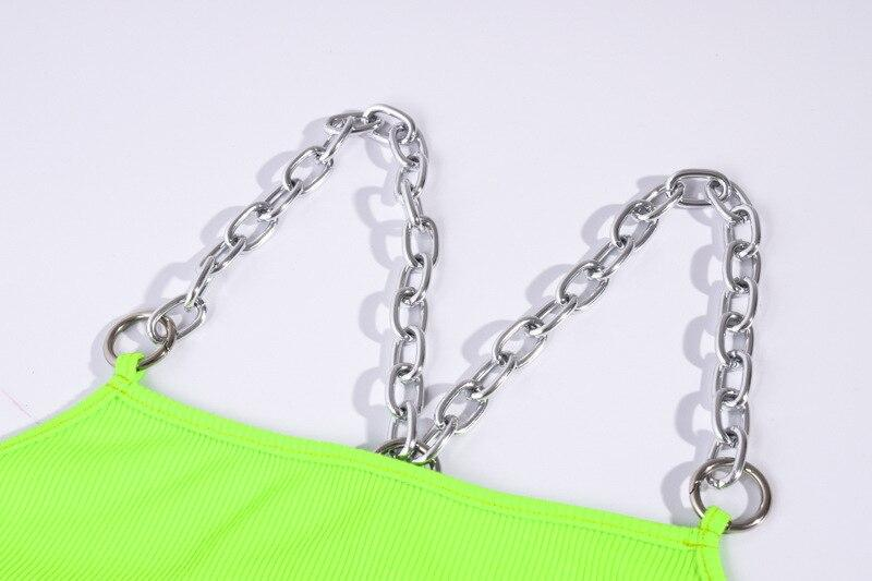 Summer Chain Tank Tops for Women / Rock Style Short Top in 3 Colors - HARD'N'HEAVY