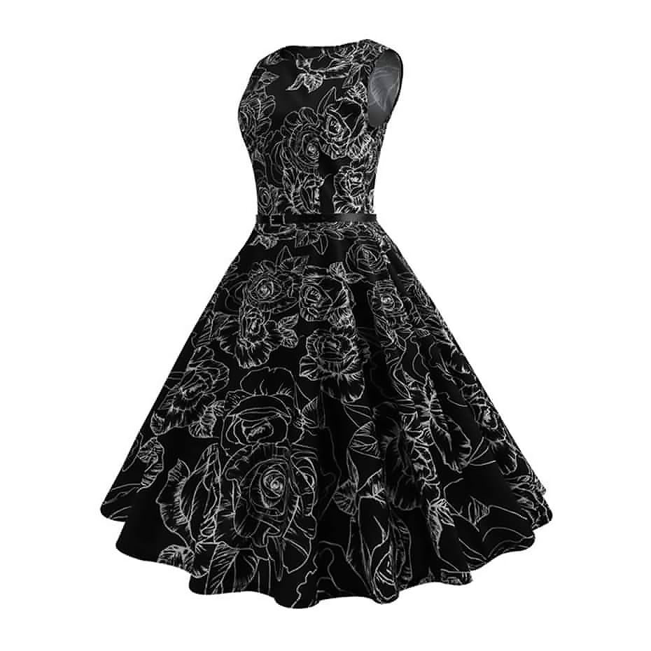 Summer Women Gothic Dress / Retro Vintage 50s 60s Robe Rockabilly Style - HARD'N'HEAVY