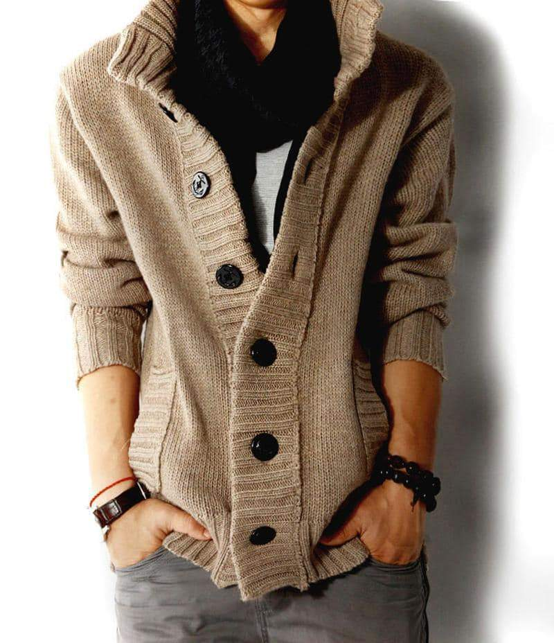 Sweater For Men Slim Cardigan Fit Jumpers Knitwear Warm Autumn Casual alternative Clothing - HARD'N'HEAVY