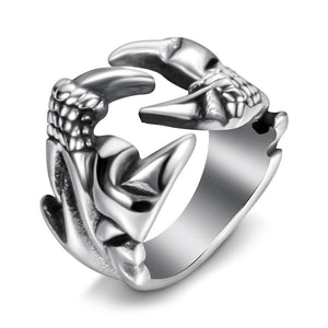 Unique Dragon Claw Biker Ring for Men and Women / Alternative Fashion Stainless Steel Jewelry
