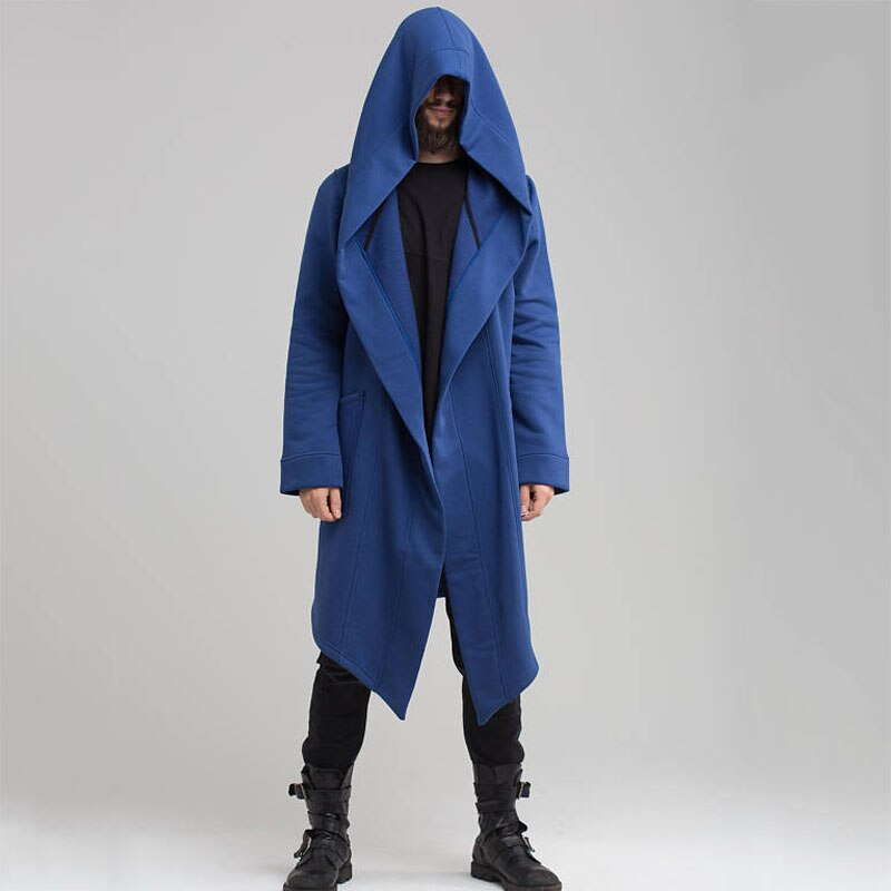 Unisex Long Trench Coat / Hooded Loose Cloak for Men & Women / Edgy Clothing Men Collection - HARD'N'HEAVY