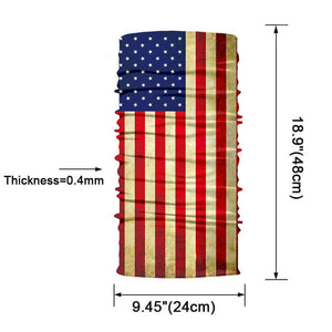 USA 3D National Flag Print Neck Balaclava-Scarf / Sun Protective Neck Tube Headwear