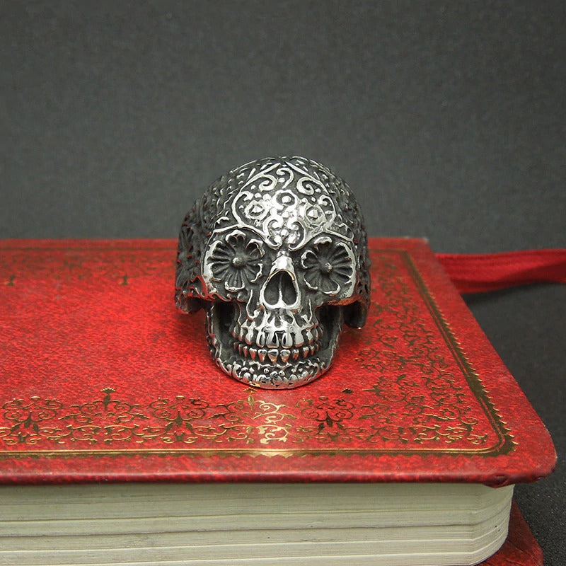 Vampire Skull Retro Steel Jewelry / Rock Punk Alternative Fashion Skull Rings / Sugar skull - HARD'N'HEAVY