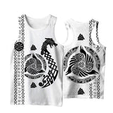 Viking Style 3D Printed Men Sleeveless T-shirt / Nordic Summer Streetwear Model #3 - HARD'N'HEAVY