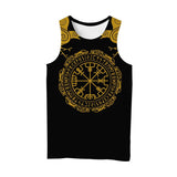 Viking Style 3D Printed Men Sleeveless T-shirt / Nordic Summer Streetwear Model #7 - HARD'N'HEAVY