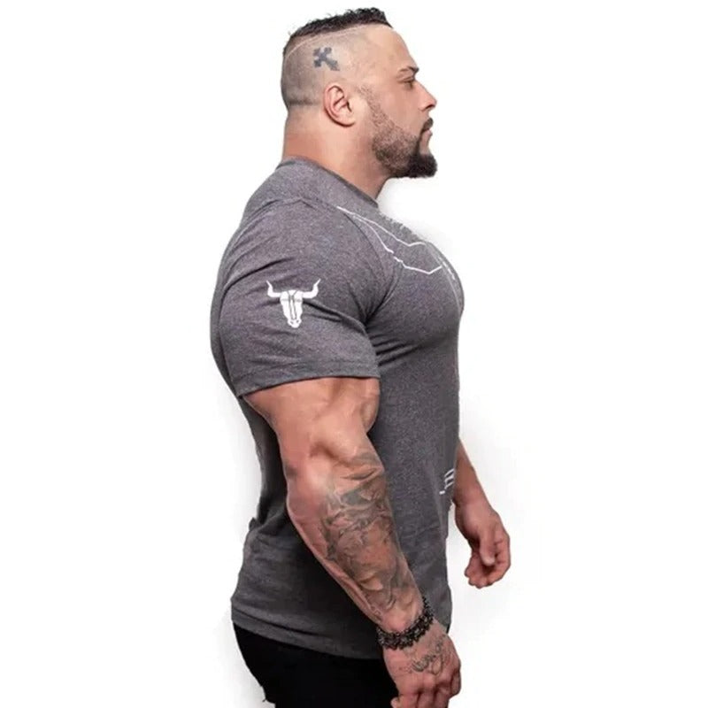 Viking Style Men T-Shirts / Oversized Muscle Workout Tees / Fitness Bodybuilding Skinny T-shirt - HARD'N'HEAVY