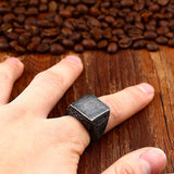 Vintage Fashion Stainless Steel Ring / Square Design Biker Jewelry - HARD'N'HEAVY