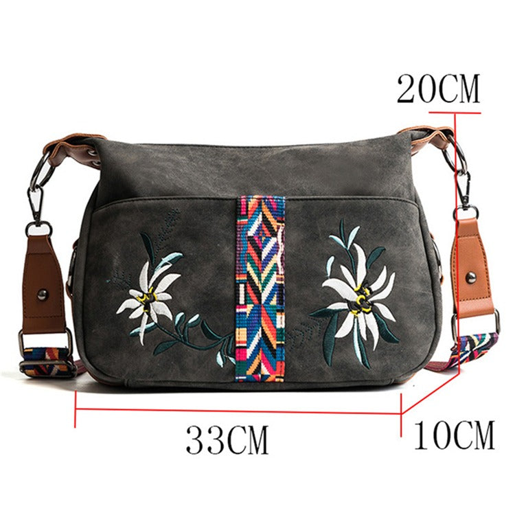 Vintage High Quality Abrasive Fabric Women Bag / Female Messenger Bag / Multifunction Shoulder Bag - HARD'N'HEAVY