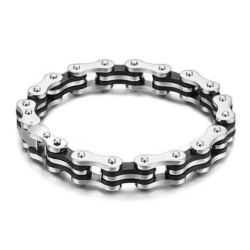 Vintage Jewelry 316l Titanium Steel Bike Bicycle Chain Bracelet - HARD'N'HEAVY