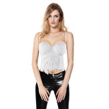 White and Black Lace Bras for Women / Steampunk Corset Tops / Female Edgy Clothing - HARD'N'HEAVY