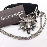 Wild Hunt Game Pendant Wolf Necklace / Animal Metal Link Chain Accessories - HARD'N'HEAVY