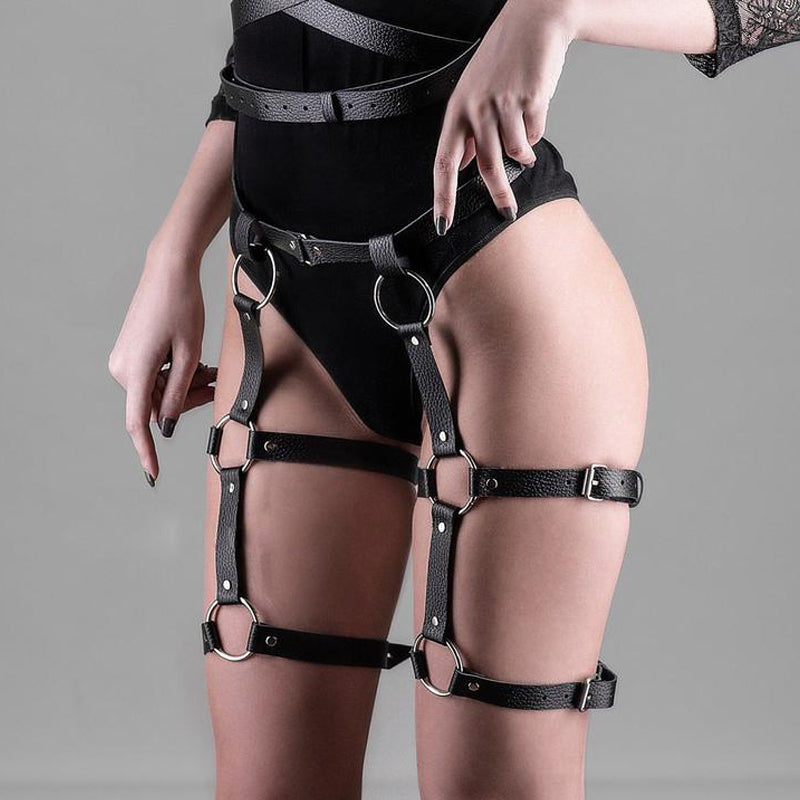 Women Body Harness Fashion / Sexy Garter Belt Bondage / Gothic High Waist Fetish Suspender Bondage - HARD'N'HEAVY