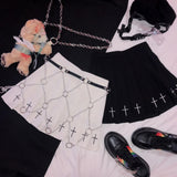 Women Faux Leather Link Chains Body Harness with Chains / Rock Star Fashion for Girls - HARD'N'HEAVY