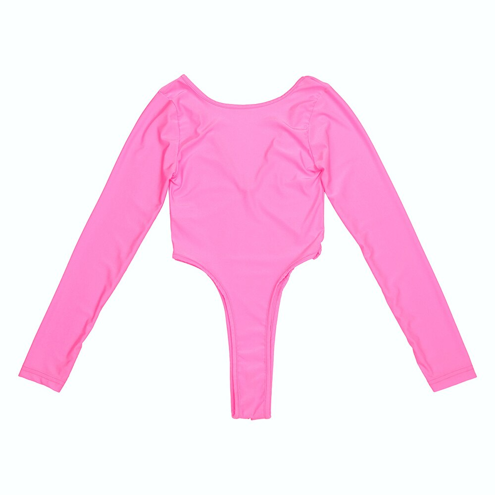 Women Sexy Bodysuit with Long Sleeve and High Cut / Female Jumpsuit Clothing - HARD'N'HEAVY