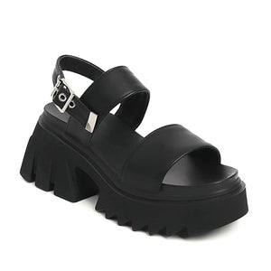 Women's Luxury Platform Chunky Shoes / Fashion Summer Buckle Strap Sandals