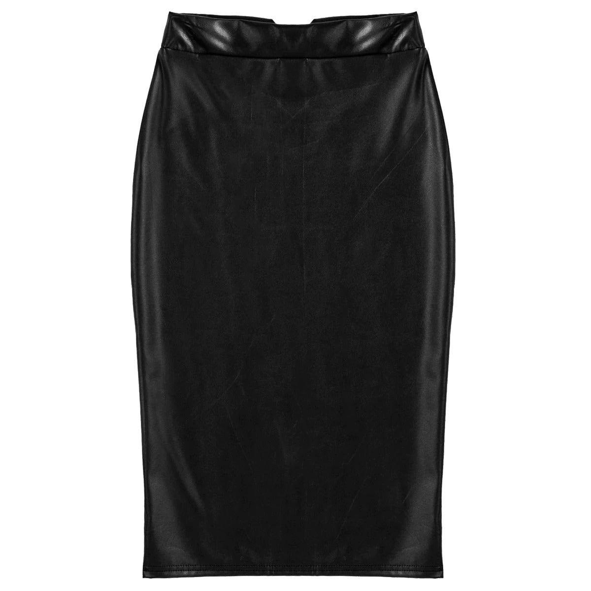 Women's Solid Color High Waist Knee Length Pencil Skirt / Ladies Party Sexy Skirts - HARD'N'HEAVY