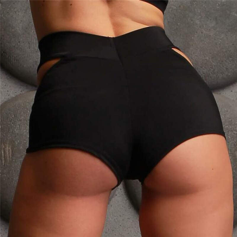 Women's Sports Short Shorts / Elastic Waist Gym Short Pants - HARD'N'HEAVY