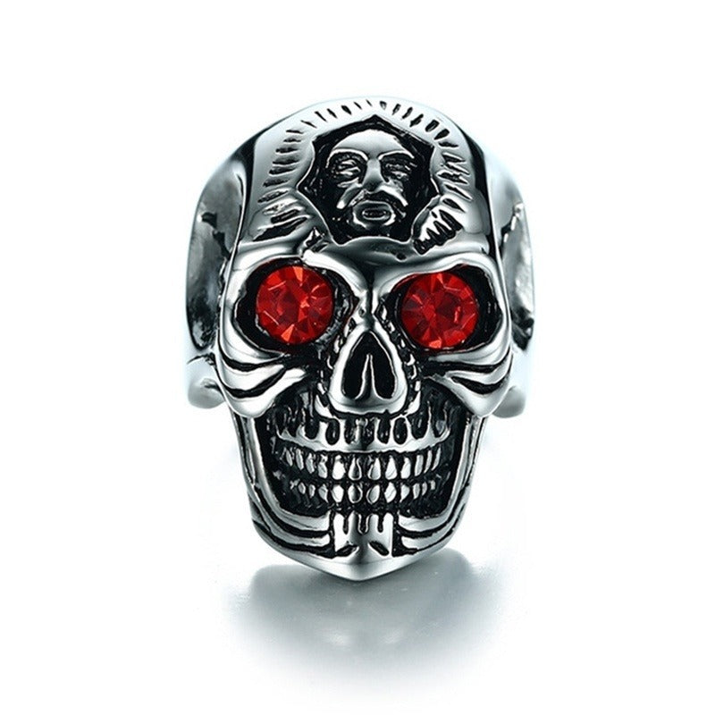 Zinc Alloy Gothic Skull Ring / Biker Men Punk Rock Antique Totem Skull / Alternative Fashion - HARD'N'HEAVY