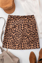 Load image into Gallery viewer, Leopard Mini Skirt