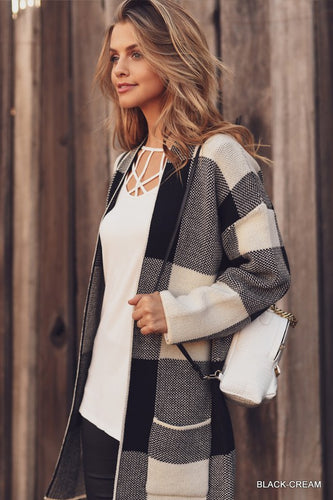 Pretty Plaid Cardigan