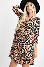 Load image into Gallery viewer, Leopard Swing Dress