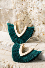 Load image into Gallery viewer, Hammered Tassel Earrings