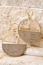 Load image into Gallery viewer, Cork & Metal Earrings