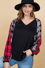 Load image into Gallery viewer, Mad About Plaid Sleeve Top