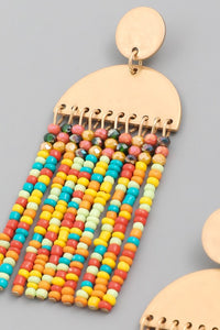 Rainfall Beaded Earrings - Assorted Colors