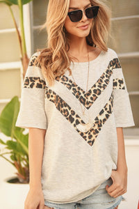 Chevron Leopard Top