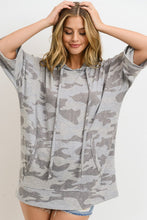 Load image into Gallery viewer, Camo Short Sleeve Hoodie
