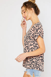 Pretty In Pink Leopard Top